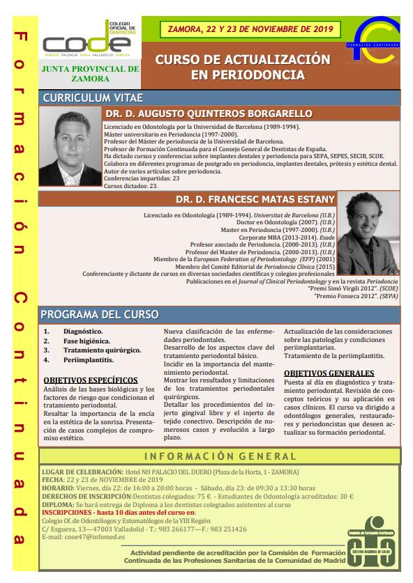Curso de actualización en periodoncia - Zamora